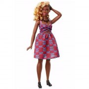 barbie fashionistas dukke - tribal print kjole - Dukker