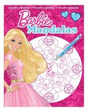 barbie mandalas malebog - pink kjole - Kreativitet