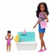 barbie dukker - skipper babysitter med badekar og baby - 2 - Dukker