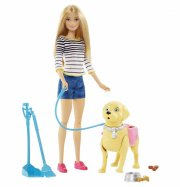 barbiedukke - barbie med hund - Dukker