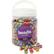 runde akryl perler - 530 stk - Kreativitet