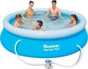 stort badebassin / pool til haven med pumpe - bestway 306 cm - Bade Og Strandlegetøj