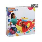 bestway - oppustelig helikopter inkl. 50 plastbolde - Babylegetøj