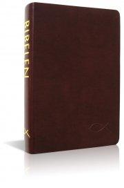 bibelen på hverdagsdansk, brunt skind - bog