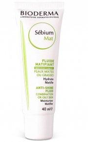 bioderma sebium mat moisturising mattifying fluid - 40 ml - Hudpleje