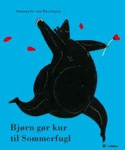 bjørn gør kur til sommerfugl - bog