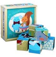træpuslespil i kasse - forest friends - Babylegetøj