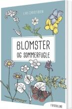 blomster og sommerfugle - bog