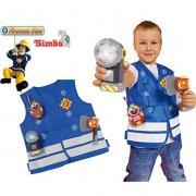 brandmand sam udklædning - 4 dele - Udklædning