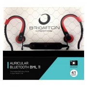 brigmton articular bml-11-r in ear bluetooth høretelefoner med mikrofon i rød - Tv Og Lyd