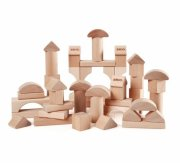 brio klodser / byggeklodser i natur træ - 50 stk. - Byg Og Konstruér