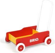 brio gåvogn i træ - rød - Motorik