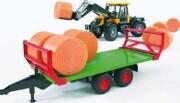 bruder halmballe transport trailer med 8 rundballer - Køretøjer Og Fly