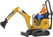 bruder jcb mini gravemaskine med figur (62002) - Køretøjer Og Fly