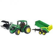 bruder john deere 6920 traktor med frontloader og trailer - Køretøjer Og Fly