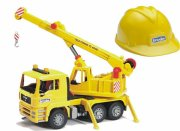 bruder 01973 - man tga kranbil med lys og lyd samt hjelm - Køretøjer Og Fly