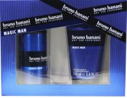 gaveæske: bruno banani magic man deo spray 150 ml. og shower gel 150 ml. - Parfume