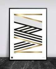buus works plakat - crossing gold 50x70cm - Til Boligen