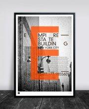 buus works plakat - empire state building 50x70cm - Til Boligen