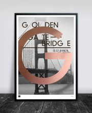 buus works plakat - golden gate bridge 50x70cm - Til Boligen