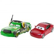 cars 3 / biler 3 die cast figur - chick hicks & natalie certain - Køretøjer Og Fly