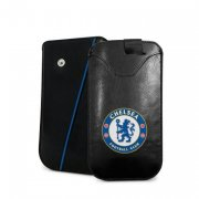 chelsea merchandise - imiteret skind taske til iphone 4/4s - iphone 5/5s - Merchandise