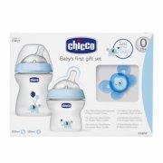 gaveæske: chicco sutteflasker - hvid / blå - Babyudstyr