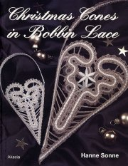 christmas cones in bobbin lace - bog