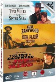 clint eastwood box - joe kidd // han kom, han så, han skød // en fremmed uden navn - DVD