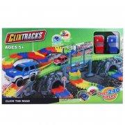 clixtracks mega bilbane med 2 biler - 240 vejdele - Køretøjer Og Fly