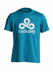 cloud9 t-shirt - esport trøjer i blå - 2xl - Merchandise