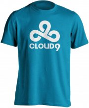 cloud9 t-shirt / esport trøjer i blå - l - Merchandise