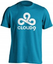 cloud9 t-shirt / esport trøjer i blå - m - Merchandise