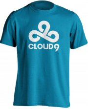 cloud9 t-shirt / esport trøjer i blå - xl - Merchandise