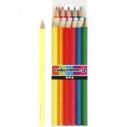 neon farveblyanter - mine: 4 mm - 6 stk - colortime - Kreativitet