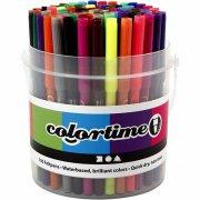 farve tuscher i 18 farver - 100 stk. - Kreativitet