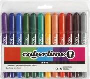 tuscher - stregtykkelse: 5 mm - forskellige farver - 12stk. - Kreativitet