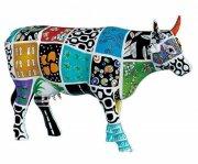 cow parade ko - cowcado de impanema - stor - 30,5x19,5 cm - Til Boligen