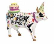 cow parade ko - happy birthday to moo! - mellem - 17x13.5cm - Til Boligen