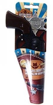 cowboy pistol & sherifstjerne - Legetøjsvåben