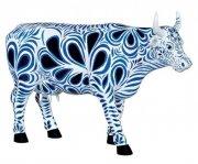 cow parade ko - cow bella - stor - 30,5x19,5cm - Til Boligen