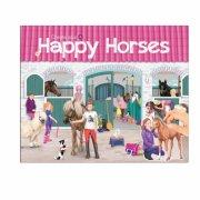 create your happy horses - aktivitetsbog med stickers - Kreativitet