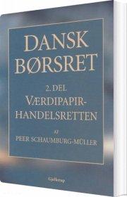 dansk børsret værdipapirhandelsretten - bog
