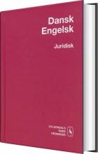 dansk-engelsk juridisk ordbog - bog