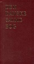den danske salmebog - luksus rød, tryk på ryg/front - bog
