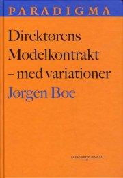 direktørens modelkontrakt - med variationer - bog