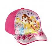 disney prinsesser kasket - mørk pink - 50-52 cm. - Diverse