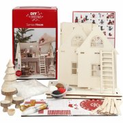 julepynt lav selv - julemandens hus - samlesæt i træ - diy christmas - Kreativitet