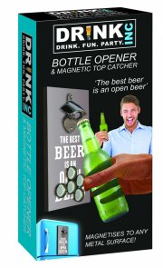 oplukker / øloplukker - drinks inc - med magnetisk kapsel fanger - Gadgets