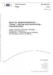 ds 432/till.1:2012 norm for afløbsinstallationer - bog